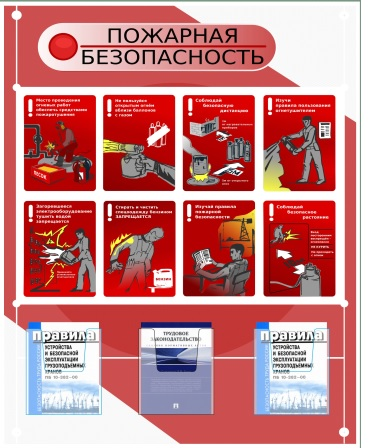Стенд пожарная безопасность 1