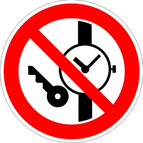 P27 Запрещается иметь при себе металлические предметы (часы и т.п.)