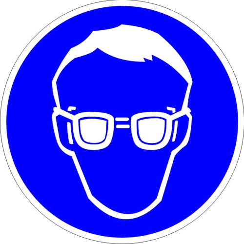 M01 Работать в защитных очках.