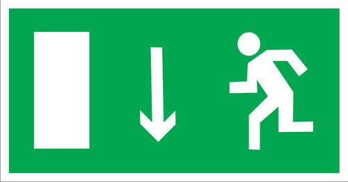 E10 Направление к эвакуационному выходу