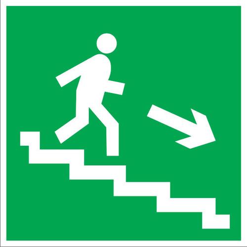 E13 Направление к эвакуационному выходу по лестнице