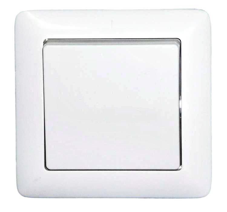 ХИТ Выключатель одноклавишный скрытый 250В 6А белый (VS16-133-B)
