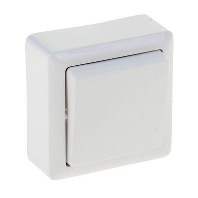 ХИТ Выключатель одноклавишный наружный 250В 6А белый (VA16-131-B)