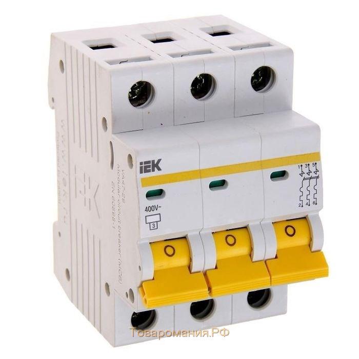 Выключатель автоматический трехполюсный 16А C ВА47-29 4.5кА