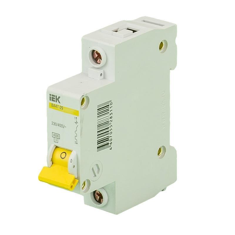 Выключатель автоматический однополюсный 6А C ВА47-29 4.5кА