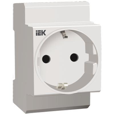 Розетка на DIN-рейку с заземлением контактов
