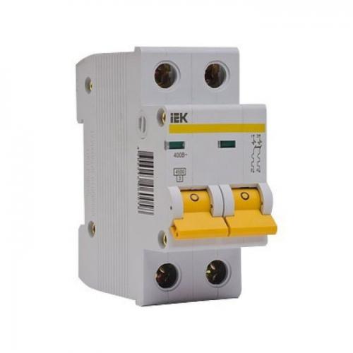 Выключатель автоматический двухполюсный 10А С ВА47-29 4.5кА