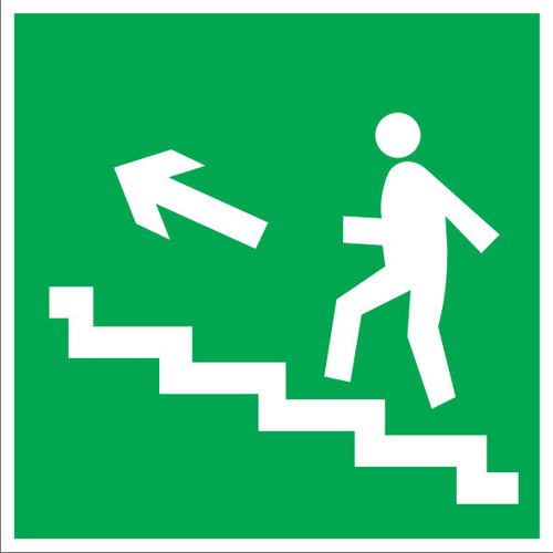 E16 Направление к эвакуационному выходу по лестнице