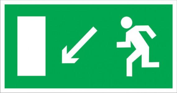 E08 Направление к эвакуационному выходу