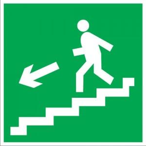 E14 Направление к эвакуационному выходу по лестнице