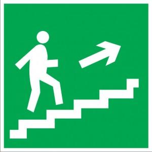 E15 Направление к эвакуационному выходу по лестнице